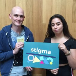 Alastair and Denisha stigma co-chairs