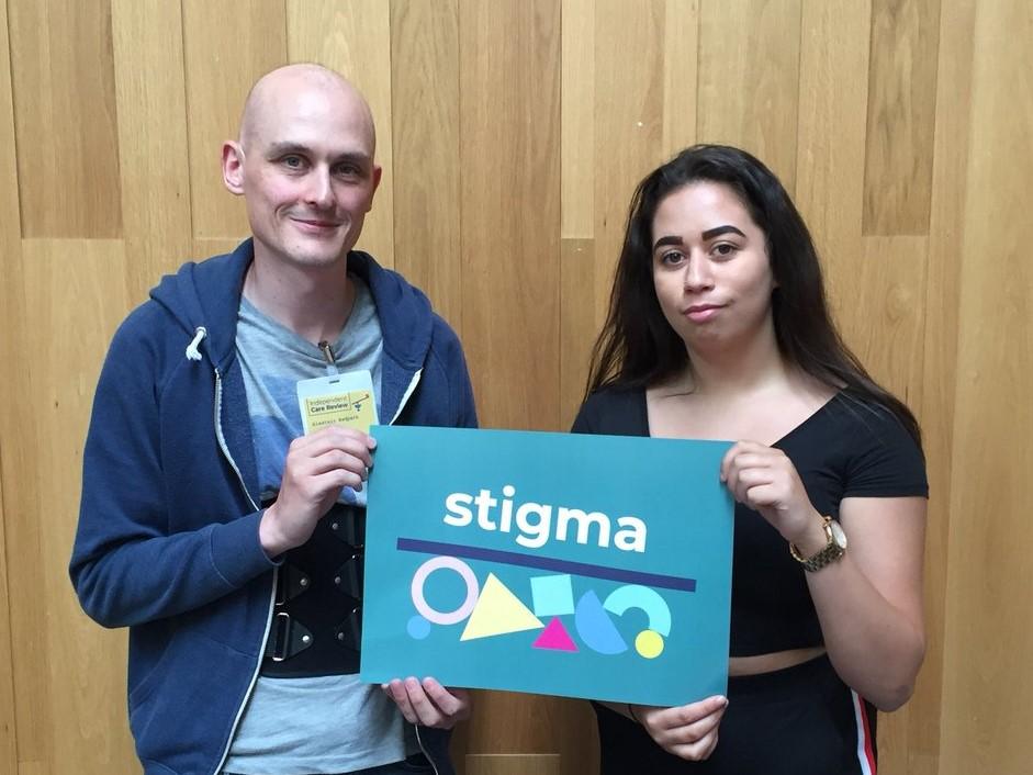 Alastair Redpath and Denisha Killoh, Stigma co-chairs