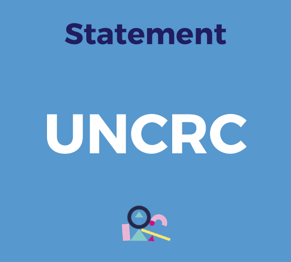 Statement UNCRC
